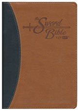 KJV Easy Reader Sword Bible. Personal Size, Leatherlike Blue/Tan Duotone, indexed