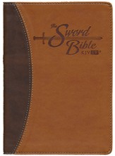 KJV Easy Reader Sword Bible. Personal Size, Leatherlike Black/Brown Duotone, indexed