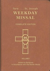 St. Joseph Weekday Missal, Complete Edition, Volume 1   Advent to Pentecost, Brown