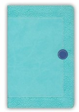 NIV Homeschool Mom's Bible Compact: Daily Personal Encouragement, Italian Duo-Tone, Turquoise/Blueberry