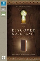 NIV Discover God's Heart Devotional Bible: Explore the King's Love for His People on a Cover-to-Cover Journey Through the Bible, Italian Duo-Tone, Chocolate/Caramel