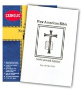 St, Joseph NAB Deluxe, Gift Edition, Medium Size White Bonded Leather - Imperfectly Imprinted Bibles
