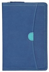 NIV Thinline Zippered Collection Bible, Compact, Italian Duo-Tone, Zipper Closure - Imperfectly Imprinted Bibles