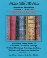Read with the Best: American Literature Volume 1 1500- 1860 Teacher's Edition
