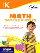 Math Games & Puzzles Workbook: Kindergarten