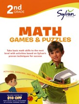 Math Games & Puzzles Workbook: Second Grade