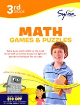 Math Games & Puzzles Workbook: Third Grade