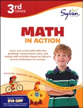 3rd Grade - Math in Action (Sylvan Workbooks)