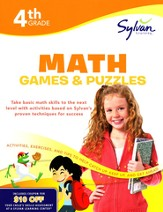 Math Games & Puzzles Workbook: Fourth Grade