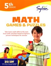 Math Games & Puzzles Workbook: Fifth Grade