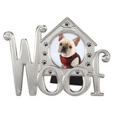 Woof, Dog Photo Frame, Black