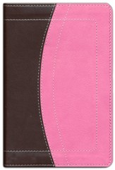 NIV Thinline Bible Compact, Italian Duo-Tone, Chocolate/Pink