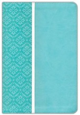 NIV Single-Column Bible Large Print, Italian Duo-Tone, Turquoise