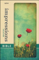 NIV Impressions Collection Bible, Hardcover, Padded, Poppies - Slightly Imperfect