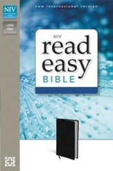 NIV ReadEasy Bible, LeatherLook, Black  - Imperfectly Imprinted Bibles