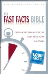 NIV Fast Facts Bible: Fascinating Trivia from the Most Read Book in History, Black - Slightly Imperfect