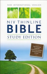 NIV Thinline Bible, Study Edition, Hardcover, Black  - Slightly Imperfect