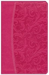 NIV Essentials Study Bible, Italian Duo-Tone, Honeysuckle Pink