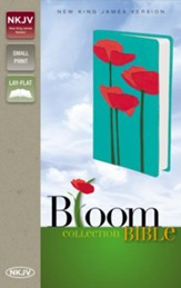 NKJV Bloom Collection Bible Compact, Italian Duo-Tone, Poppies
