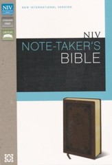 NIV Note Taker's Bible, Italian Duo-Tone, Brown
