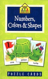 Numbers, Colors & Shapes Puzzle Cards