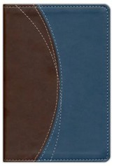 NIV Thinline Bible Compact, Italian Duo-Tone, Chocolate/Grey