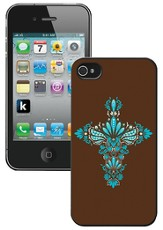 Cross iPhone 4 Case, Brown and Blue