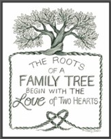 The Roots of a Family Plaque