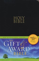 NIV Gift & Award Bible, Black, Leather-Look