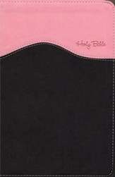 NIV Gift Bible, Pink/Chocolate Duo-Tone - Imperfectly Imprinted Bibles