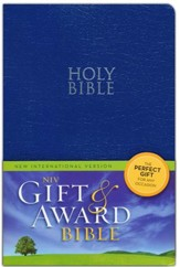 NIV 2011, Gift & Award Bible, Blue, Leather-Look  - Imperfectly Imprinted Bibles