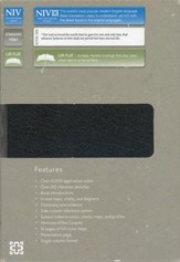 NIV Life Application Study Bible--bonded leather, black - Slightly Imperfect