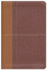 NIV Life Application Study Bible, Imitation Leather, Carmel Dark Carmel - Slightly Imperfect