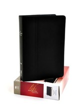 NIV Life Application Study Bible, Genuine Cowhide Leather, Ebony - Imperfectly Imprinted Bibles