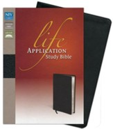 NIV Life Application Study Bible, Bonded Leather, Distressed Black