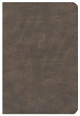 NIV Life Application Study Bible, Large Print, Bonded Leather, Distressed Brown - Slightly Imperfect