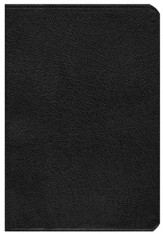 NIV Life Application Study Bible, Large Print, Bonded Leather, Black, Thumb Indexed - Slightly Imperfect