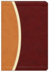 NIV Reference Bible, Largeprint, Camel/Burgundy Duo-Tone