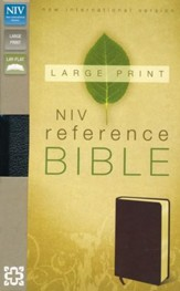 NIV Largeprint, Reference, Black - Imperfectly Imprinted Bibles