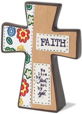 We Live By Faith Cross