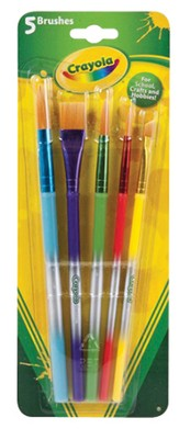 Crayola, Arts and Crafts Brushes, 5 Pieces
