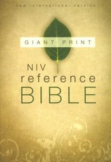 NIV Reference Bible, Giant Print, Thumb-Indexed  - Imperfectly Imprinted Bibles