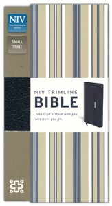 NIV Trimline Bible (2011)--bonded leather, navy blue snap closure - Slightly Imperfect