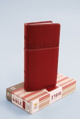 NIV Trimline Bible, Cherry/Cherry Duo-Tone