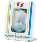 Jesus Loves Me, Photo Frame, Blue