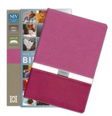 NIV Compact Thinline Bible, Orchid/Razzleberry Duo-Tone - Imperfectly Imprinted Bibles