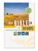 The NIV Bible in 90 Days, Hardcover, Jacketed Printed - Slightly Imperfect