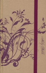 NIV Thinline Bible, Plum Floral