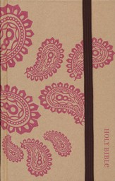 NIV Thinline Bible, Pink Paisley