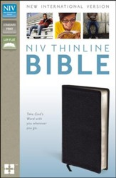 NIV Thinline Bible, Black - Slightly Imperfect